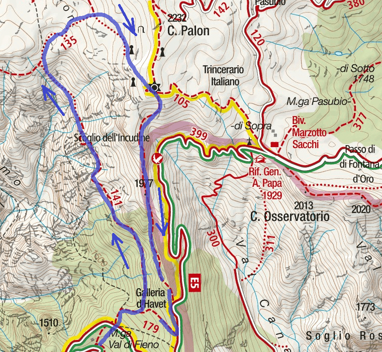 Cartina Sentiero Attrezzato Baglioni Itinerario Dettaglio 2