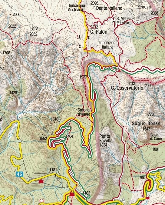 Cartina Sentiero Attrezzato Baglioni