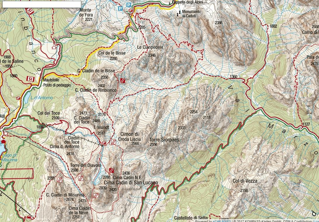 Bonacossa Aided Path Map