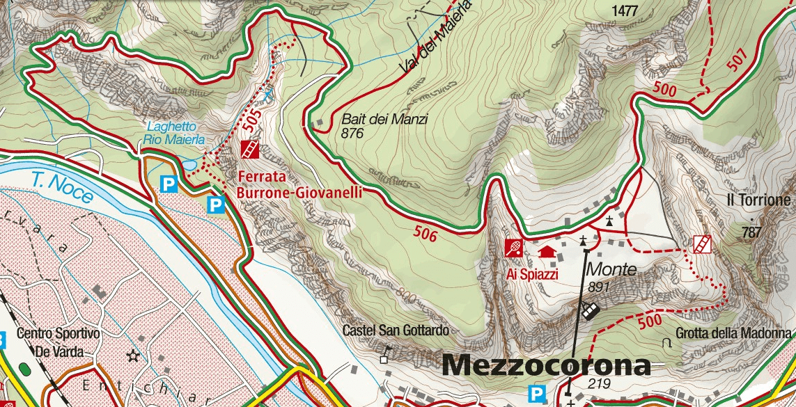 Burrone Giovanelli Gully Trail Map