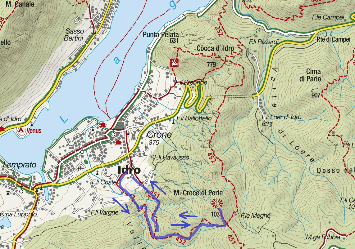Idro Itinerary Trail Idro Itinerary Map
