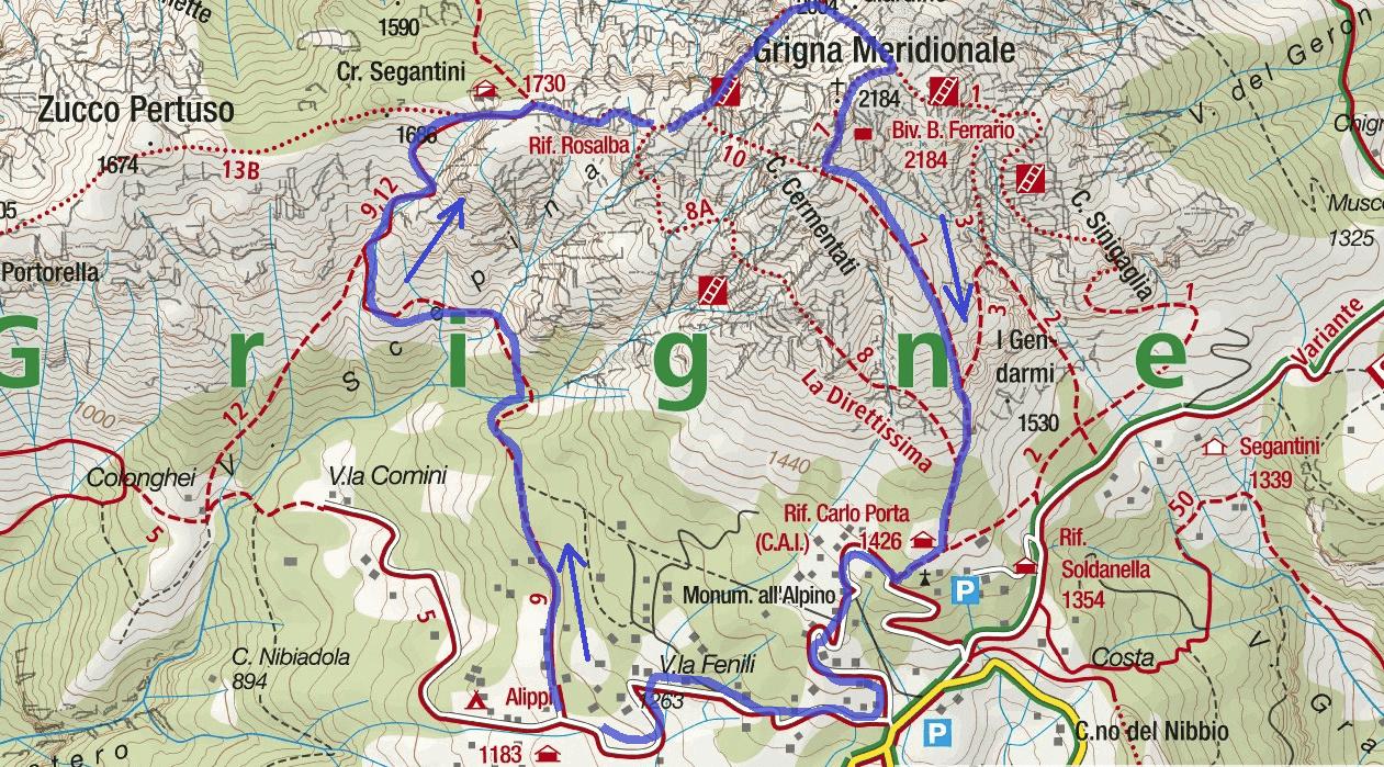 Cartina Sentiero Attrezzato Cecilia Itinerario
