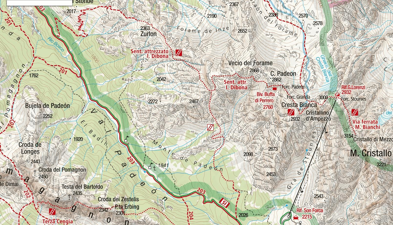 Dibona Aided Path Map