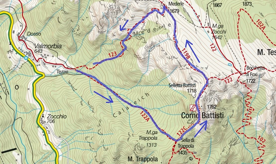 Franco Galli Equipped Route Map