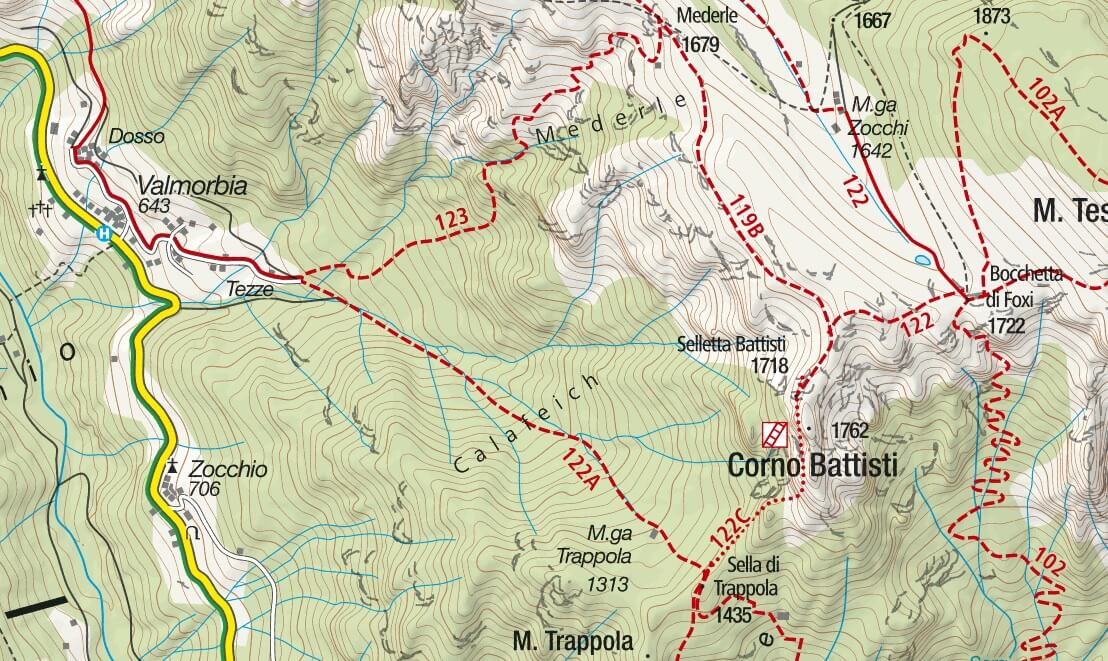 Franco Galli equipped trail map