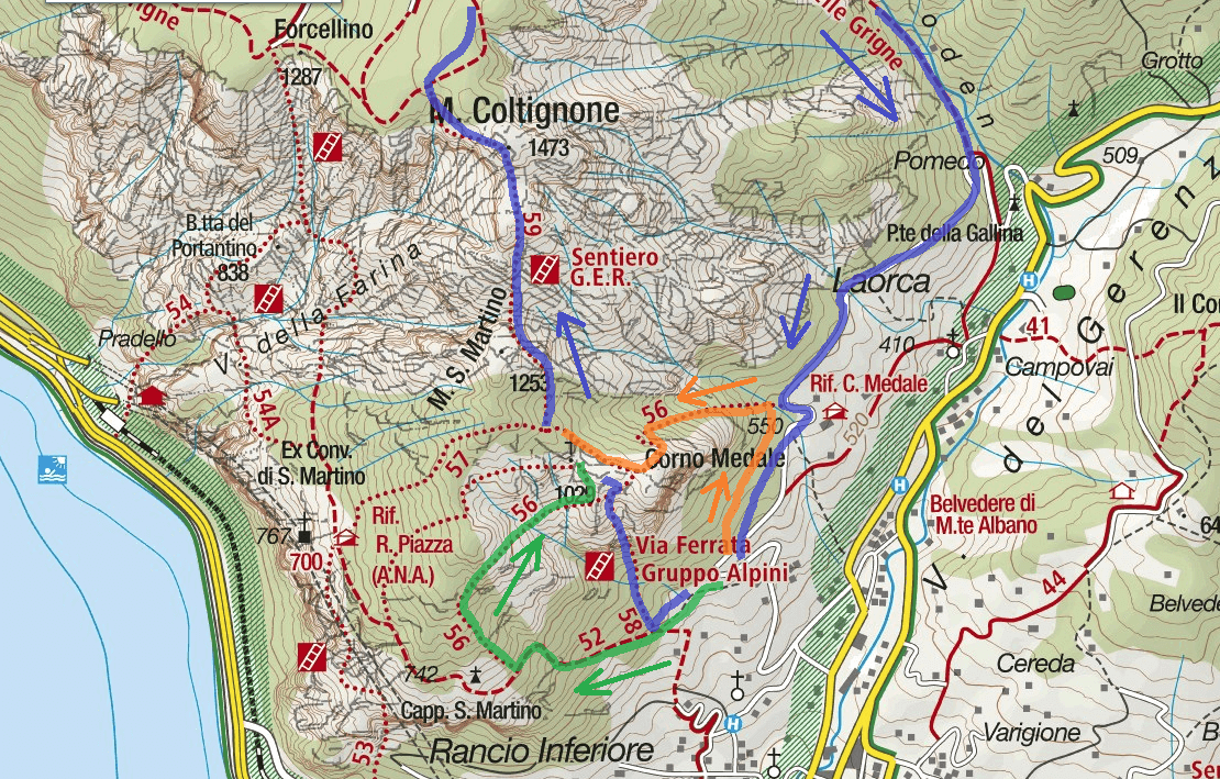 GER Aided path Map Detail Itinerary