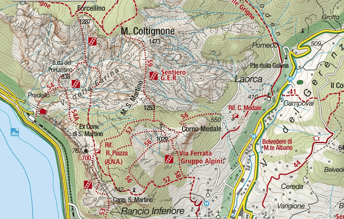 GER aided path map Detail