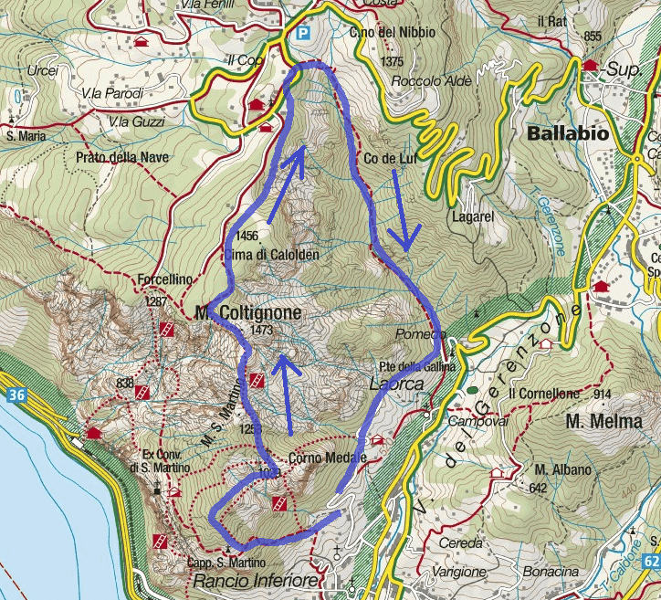 GER aided path map Itinerary with Silvia path