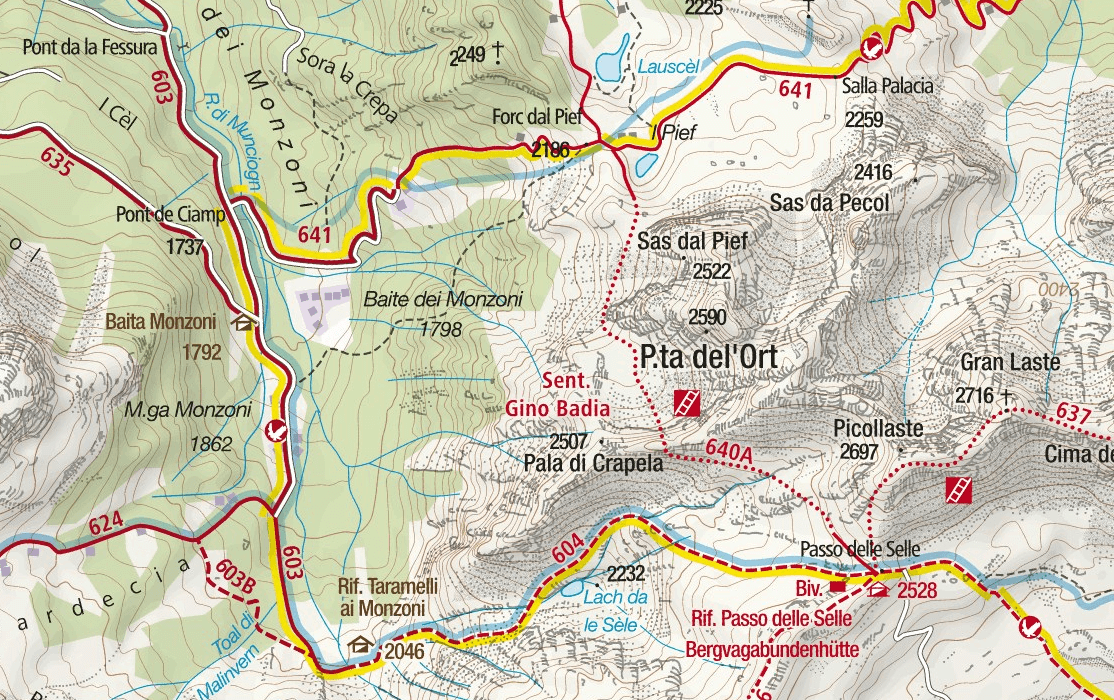 Gino Badia Aided Path Detail Map Detail