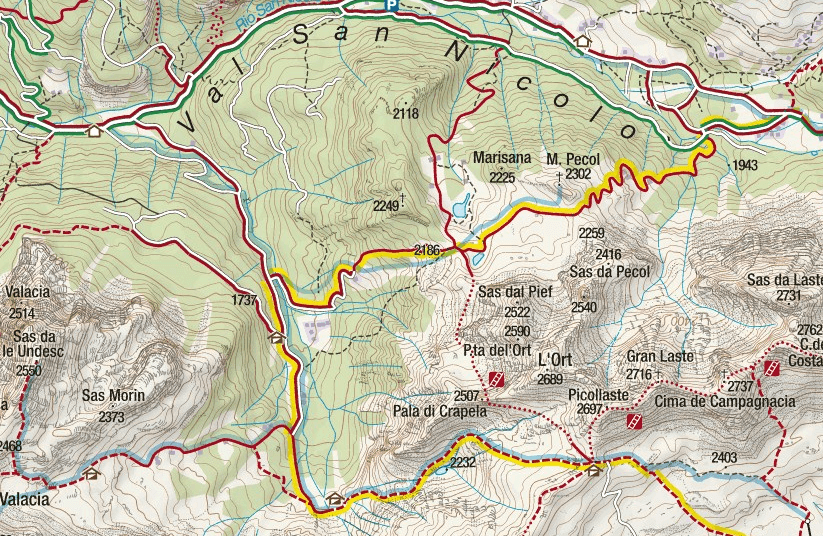 Gino Badia Aided Path Map