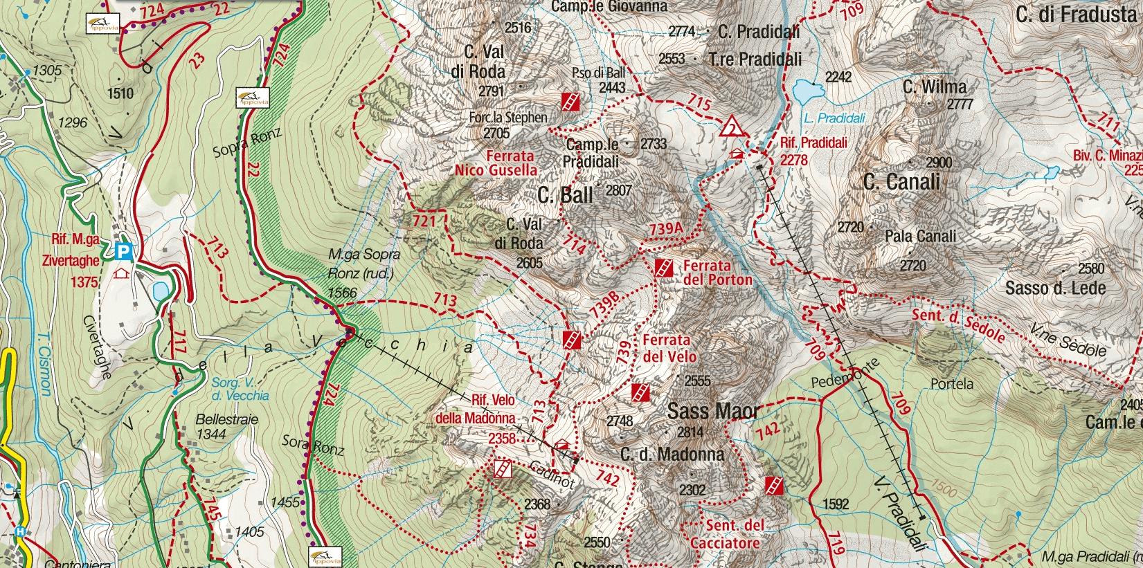 Cartina Sentiero Attrezzato Gusella