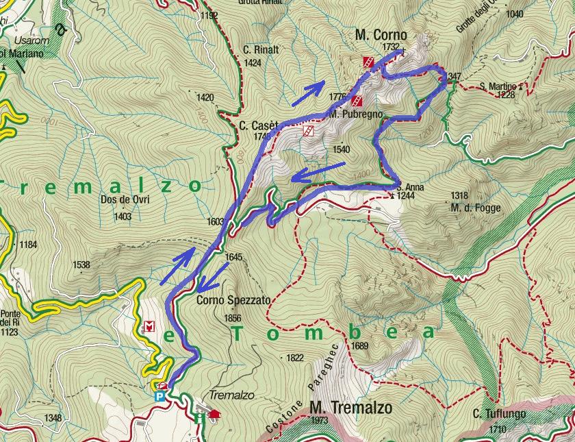 Mora Pellegrini Itinerary Aided Route Map