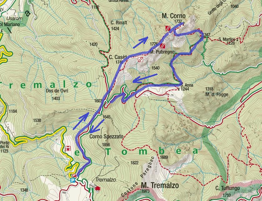 Cartina Sentiero Attrezzato Mora Pellegrini Itinerario