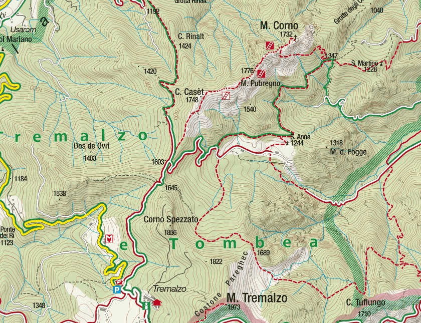 Mora Pellegrini Aided Path Map