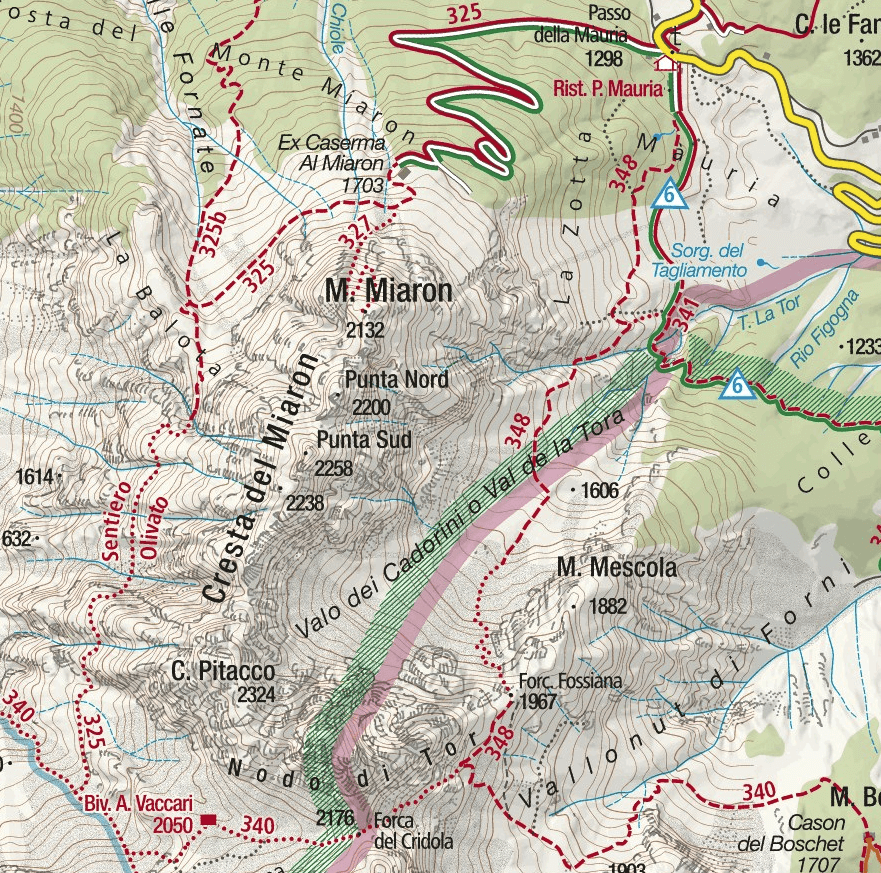 Olivato Aided Path Map