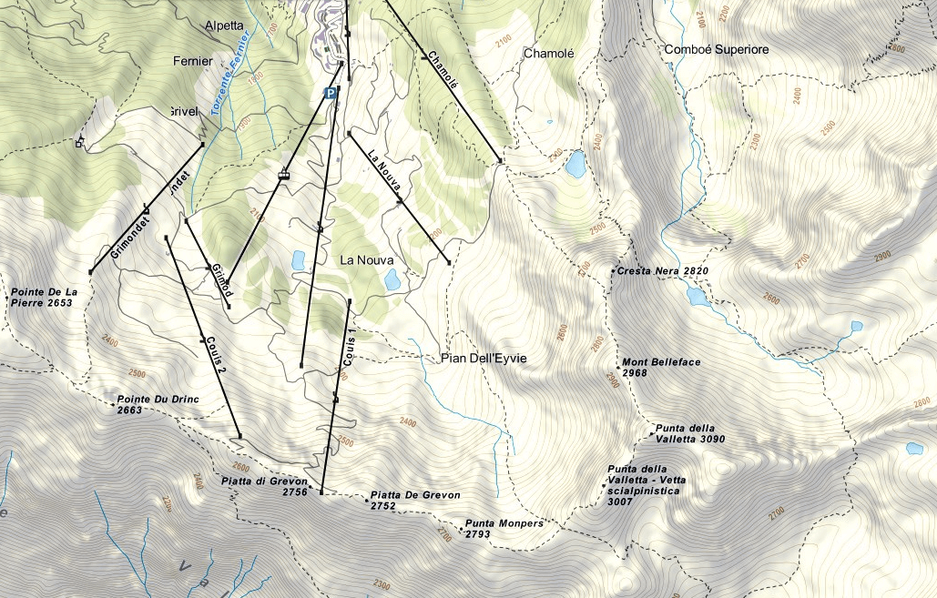 Panorama aided path map