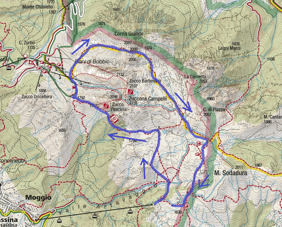 Stradini Route Itinerary Map