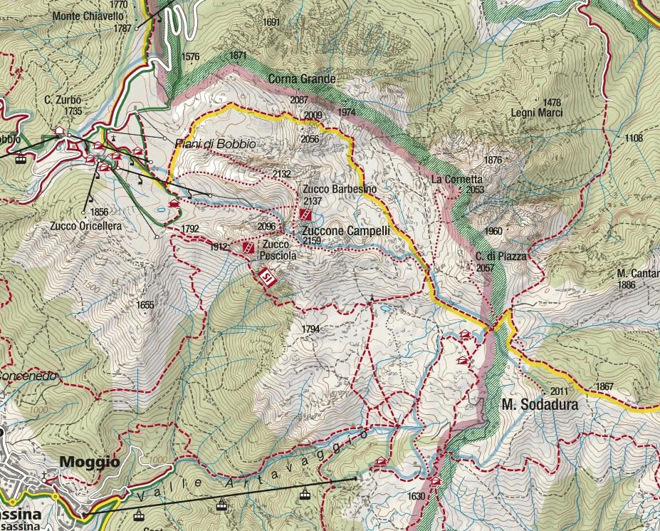 Cartina Sentiero Attrezzato Stradini