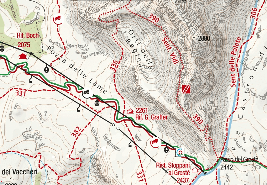 Map of the aided path I saw