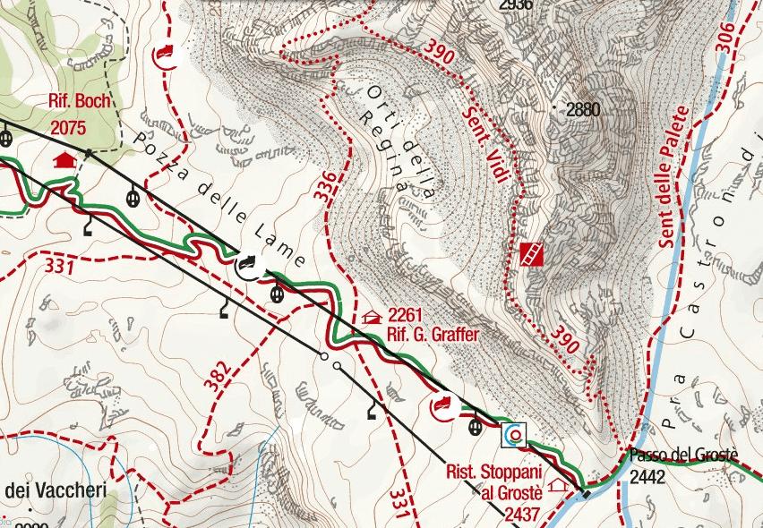 Cartina Sentiero Attrezzato Vidi