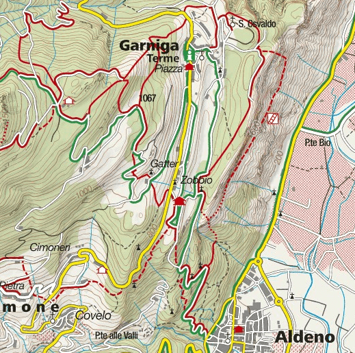 Cartina Sentiero Attrezzato de le Stel