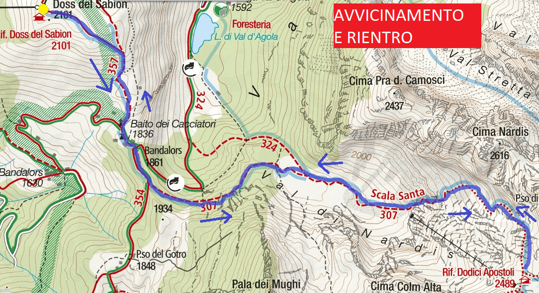 Map Aided Path of the Ideal Approach to the XII Apostles Hut