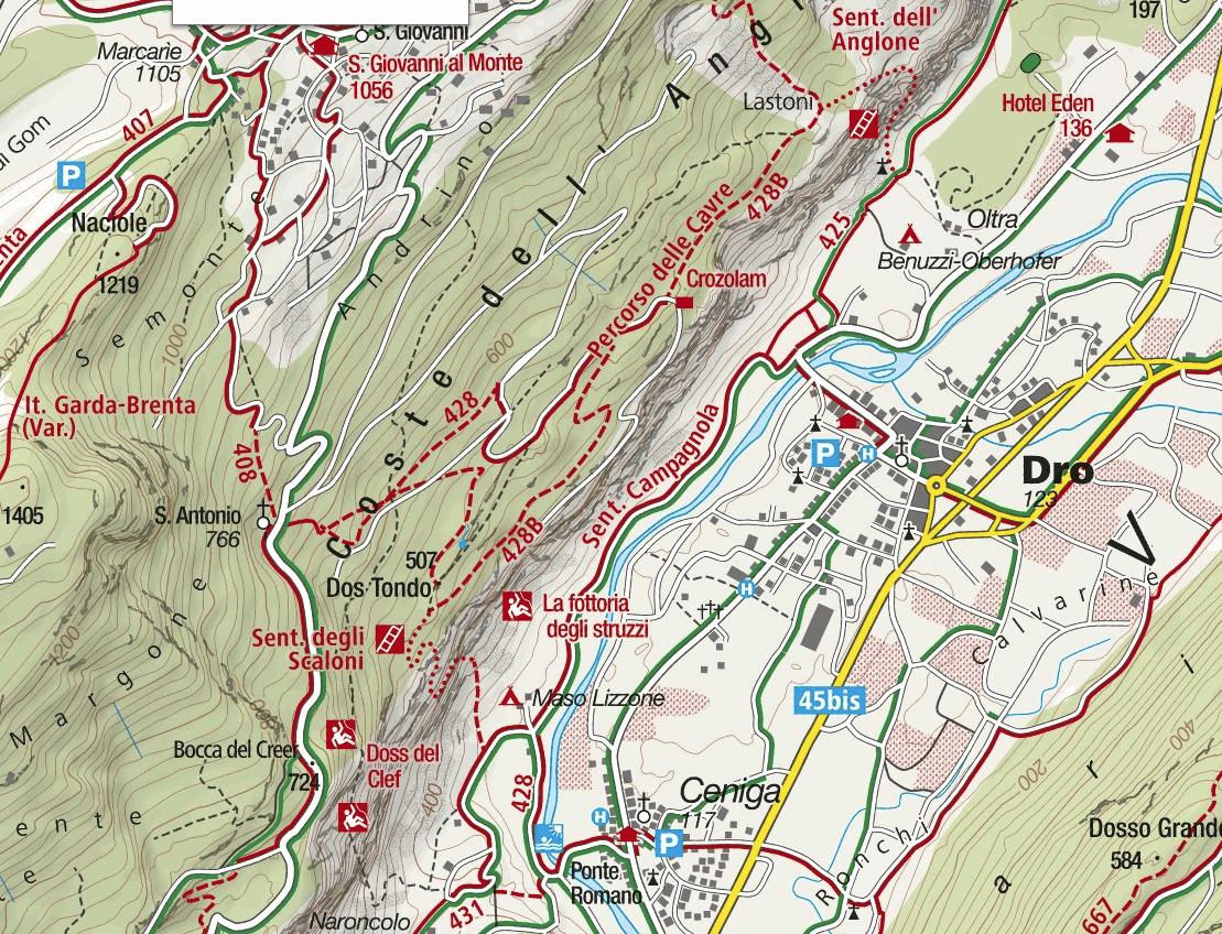 Cartina Sentiero Cavre Scaloni Anglone