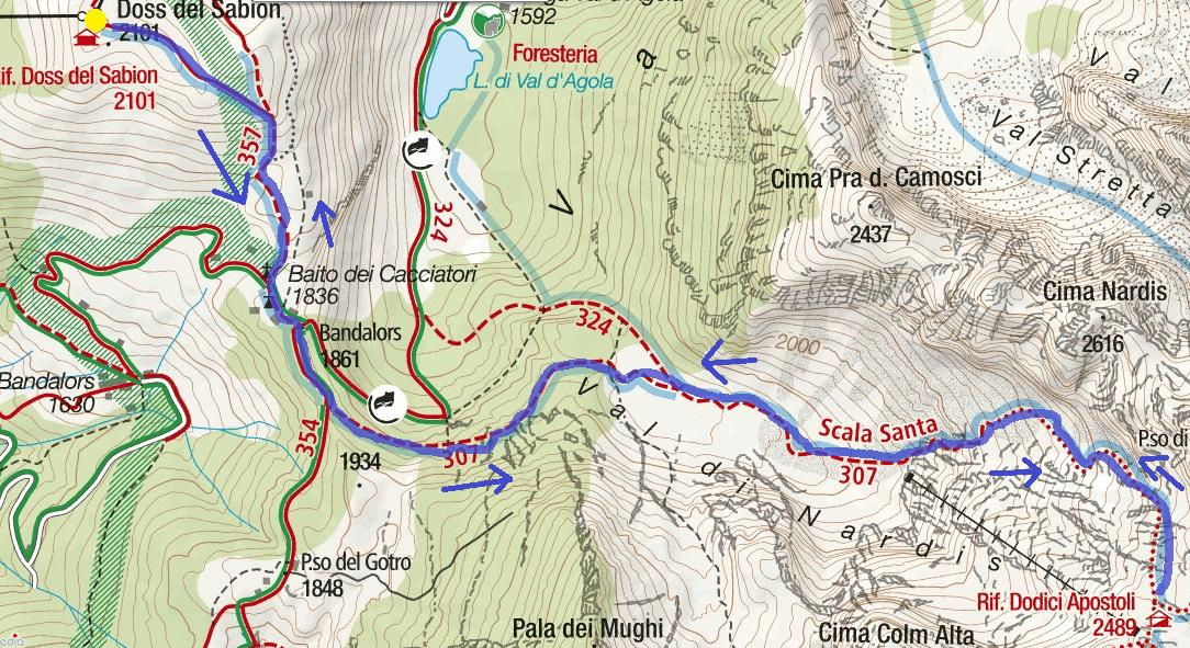 Cartina Sentiero Scala Santa Itinerario 1