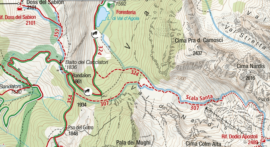 Map of the Holy Stairway Path