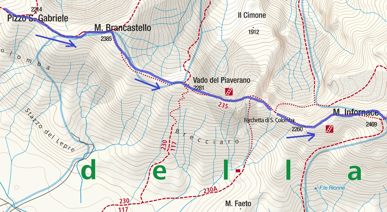 Map Centennial Trail Itinerary Detail 2