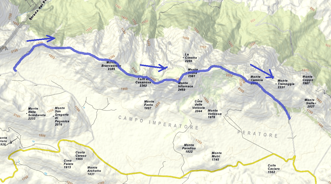Map The Path of the Centenary Itinerary