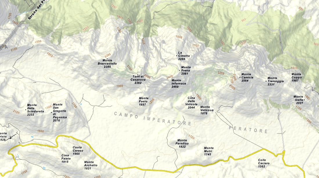 Map of the Centenary Trail