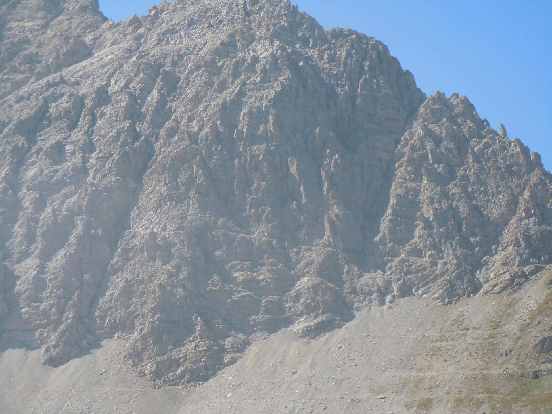 Alpine ledge Passo Mulattiera