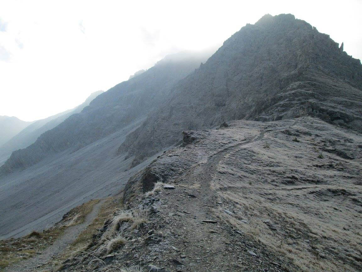 From Passo Mulattiera towards Ferrata Alpini