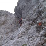 Ferrata Alleghesi Rientro Via Normale 11 traverso