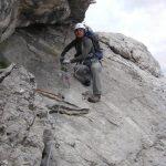Ferrata Alleghesi Return to Via Normale 6 slab under the roof