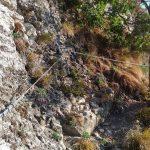 Ferrata Alpini Bismantova Avvicinamento 3 inizio attrezzature