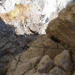 Ferrata Alpini Bismantova Avvicinamento 4 camino in calata