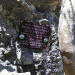 Ferrata Alpini Bismantova cartello 2