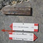 Ferrata Alpini Oronaye 31 approach