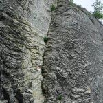 Alpine Ferrata Stone of Bismantova Plate approaching