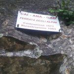 Ferrata Alpini Pietra di Bismantova targhetta inizio