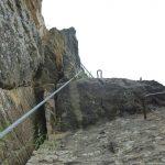 Ferrata Alpini Pietra di Bismantova tratto leggermente strapiombante