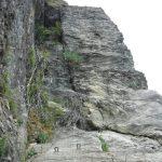 Ferrata Alpini Pietra di Bismantova traverso
