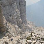 Ferrata Amalia 17 uphill montasio