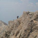 Ferrata Amalia 20 climb montasio