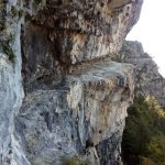 Ferrata Rings of the Anguane 25 ledge