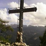 Ferrata Attilio Sieff summit cross