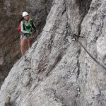 Ferrata Averau 8 traverse