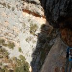 Ferrata Badde Pentumas 19 second section ledge